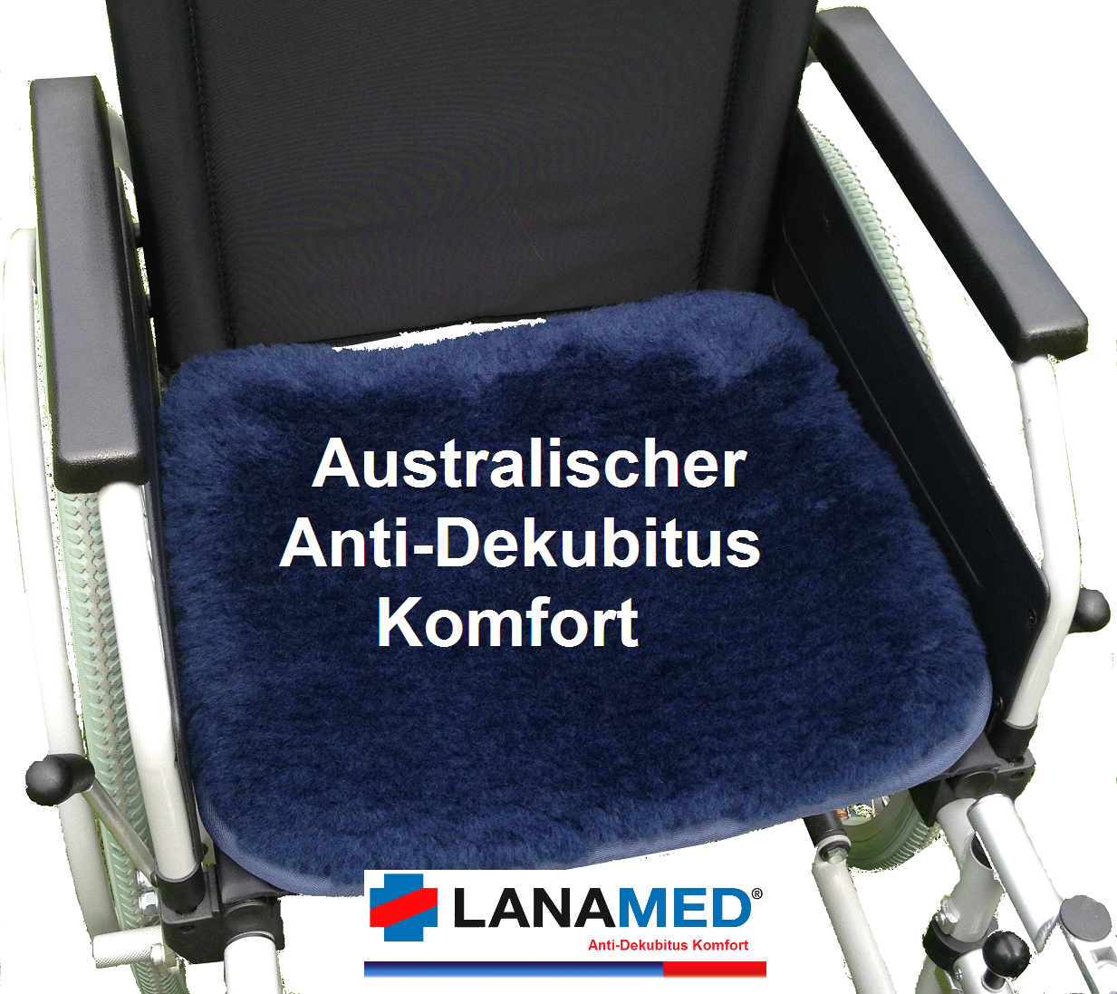 Lanamed Anti Dekubitus Rollstuhl Sitzauflage