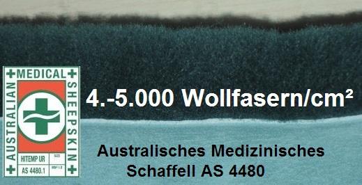 Australisches Antidekubitus-Fell Lanamed Australisches medizinisches Schaffell