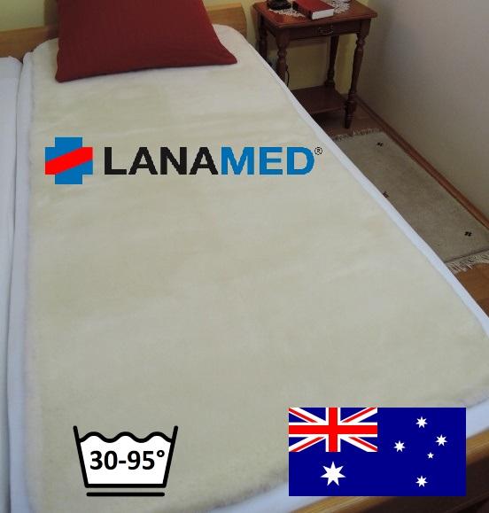 Schurwoll Bettauflage, medizinisch, Australisch, waschbar
