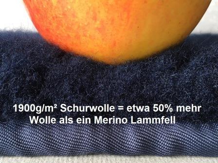 Lanamed Antidekubitus Rollstuhlauflage aus Schurwolle