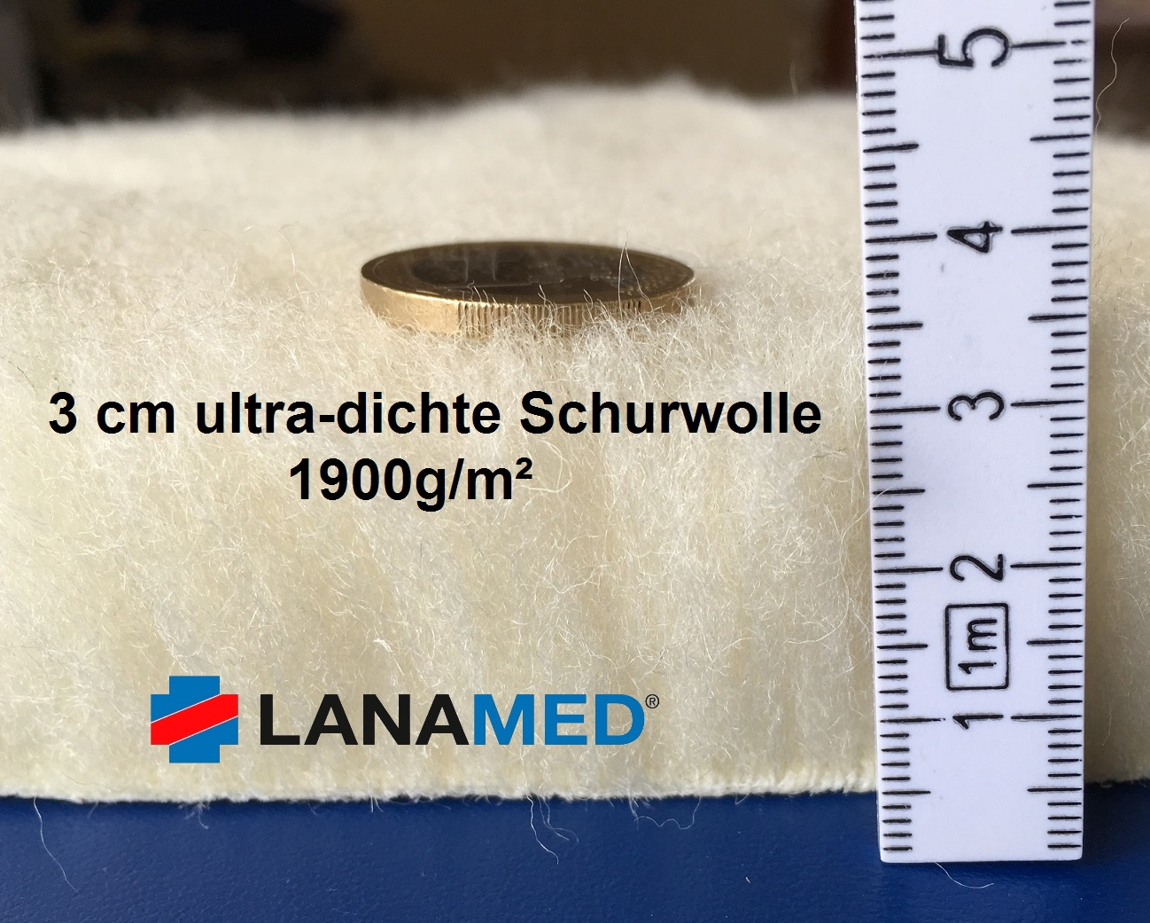 Lanamed Matratzenauflage aus ultradichter Schurwolle