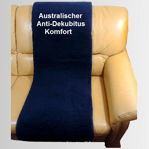 Antidekubitus Sesseauflage Lammfell Komfort aus Schurwolle