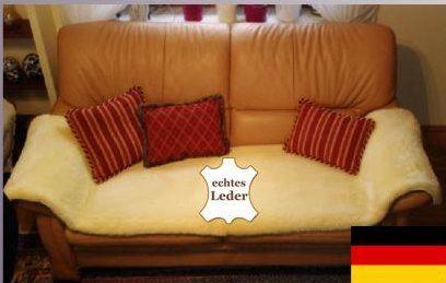 Lammfell Sesselauflage  Sofaauflage Merino medizinisch 50 x 200 cm