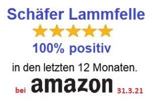 Lanamed Schäfer Lammfelle Testurteil sehr gut bei Amazon 31. März 2021